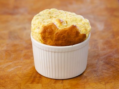 Cheddar Cheese Souffle With Smoked Salmon Recipe — Dishmaps