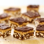 Chocolate-Peanut Butter Crispy Bars