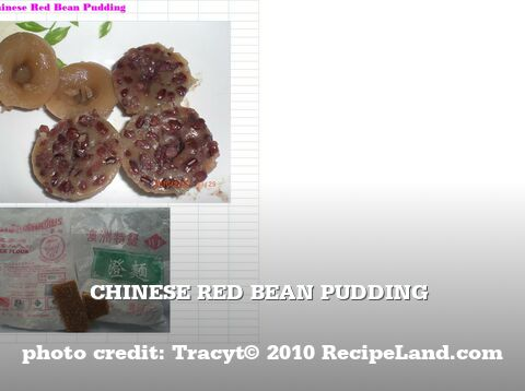 Chinese Red Bean Pudding