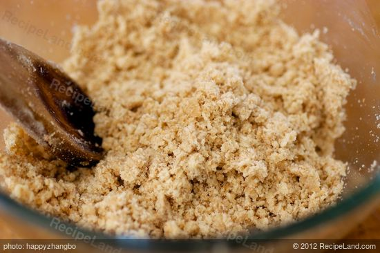 Stir until well mixed and crumbly.