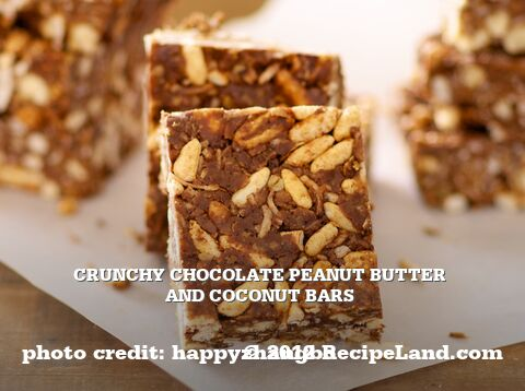 Crunchy Chocolate Peanut Butter and Coconut Bars