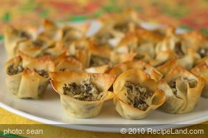 Chevre and Portabello Mushroom Tarts