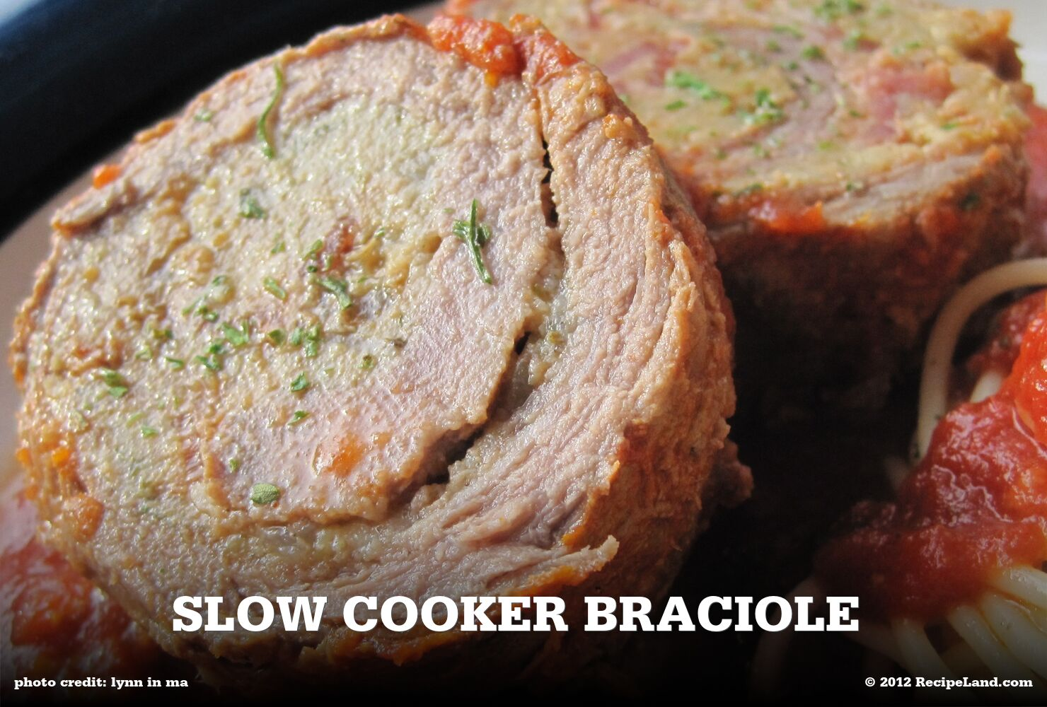 Slow Cooker Braciole
