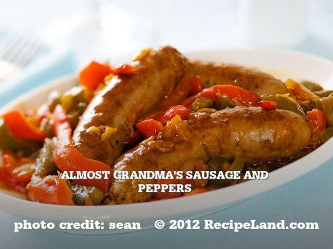 Almost Grandma's Sausage and Peppers