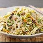 Chinese Veggie Salad with Soy Dressing