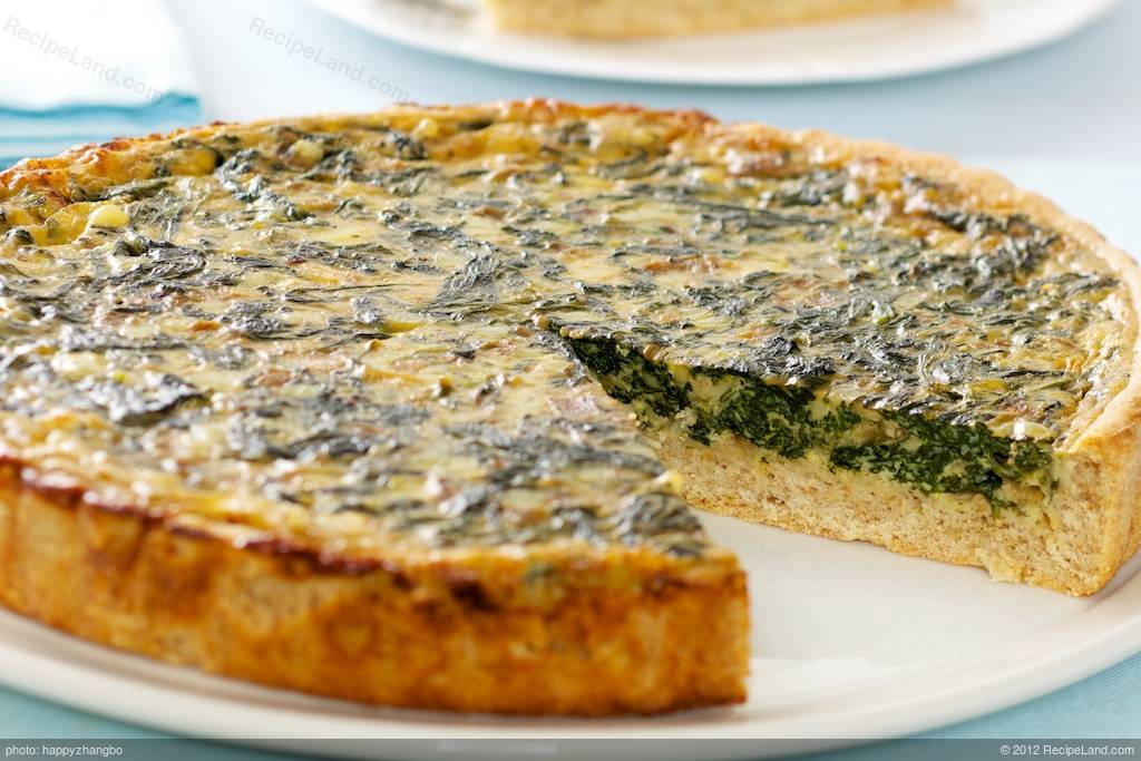 Light Spinach Quiche Recipe Recipeland Com