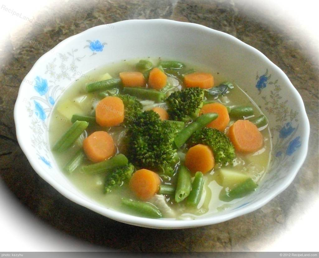 Steam From Soup ~ Lentil soup with steamed vegetables recipe