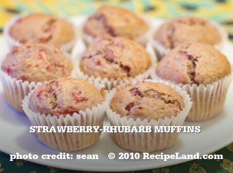 Strawberry-Rhubarb Muffins