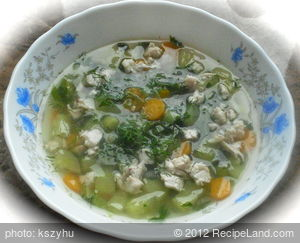 Cucumber Soup with Spring Vegetables