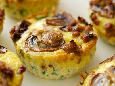 Mushroom and Sausage Quiche Muffins