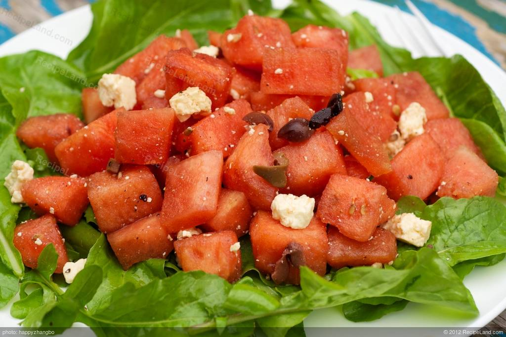 Watermelon, Arugula and Feta Salad Recipe