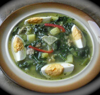 Spinach and Long White Radish Soup