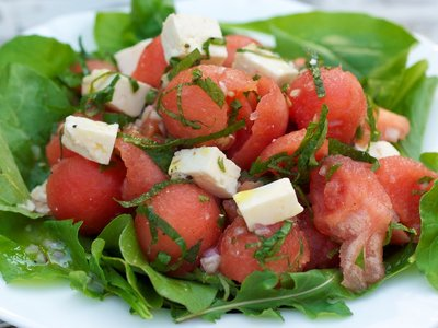 Watermelon, Mint and Feta Salad with Citrus Dressing