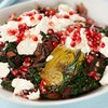 Beet Green, Artichoke Hearts and Pomegranate Salad