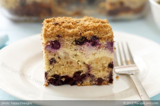 Blueberry Cream Cheese Coffeecake