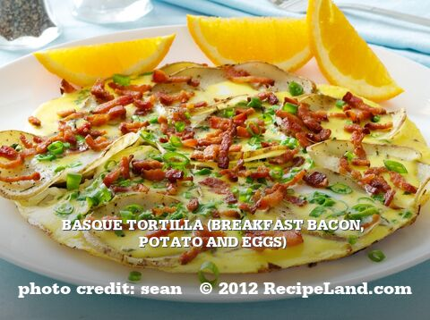 Basque Tortilla (Breakfast Bacon, Potato and Eggs)