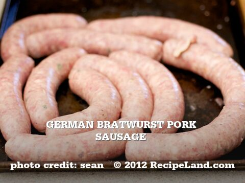 German Bratwurst Pork Sausage