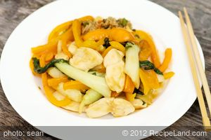 Chicken Bok Choy Stir Fry (Low Fat, Low Cal)