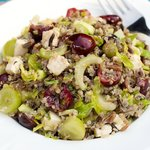 Quinoa, Wild Rice Salad with Cherry and Grapes