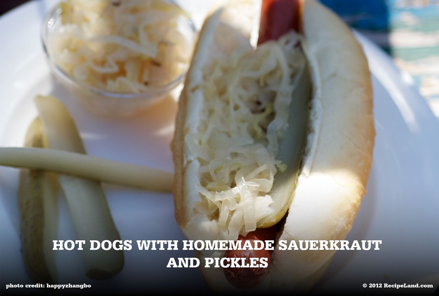 Hot Dogs with Homemade Sauerkraut and Pickles