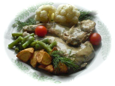 Rabbit with Tarragon Sauce