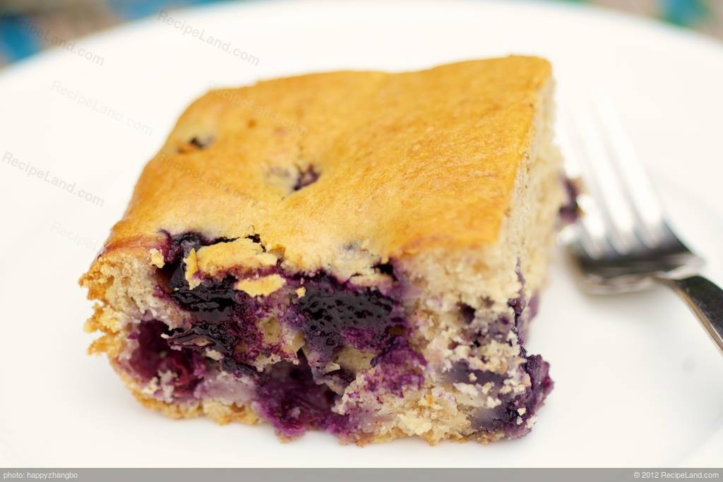 Low Fat Blueberry Coffee Cake Recipe