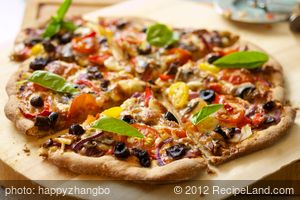 Cherry Tomato, Mushroom and Olive Pizza