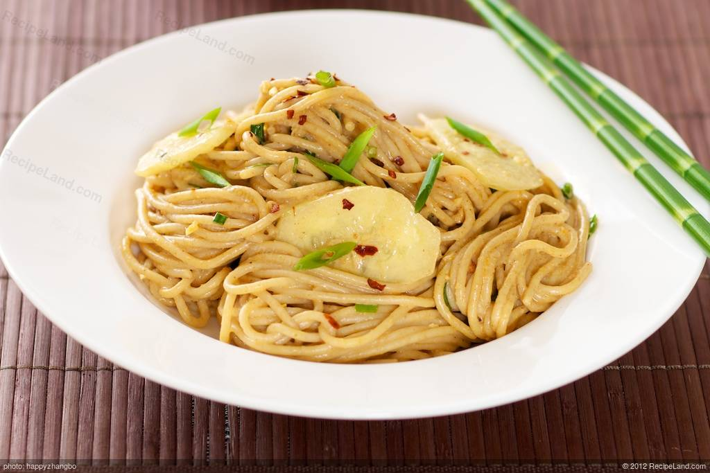 Cold Oriental Noodles with Peanut Sauce Recipe