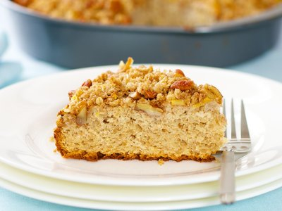 Awesome Peach Coffee Cake with Oat Cinnamon Streusel