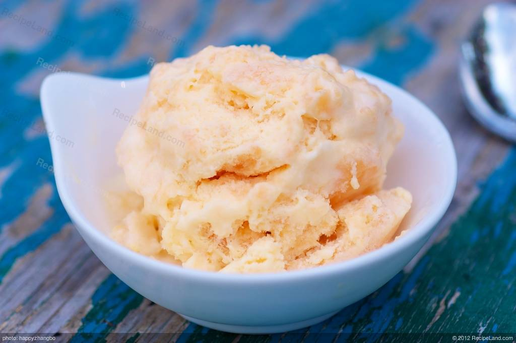 Cantaloupe Sorbet – Place the cubed cantaloupe onto the baking sheet, leaving space in between the cubes to allow for even freezing.