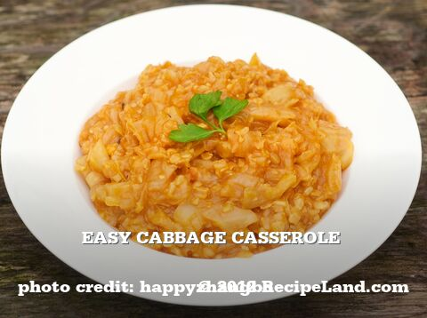 Easy Cabbage Casserole