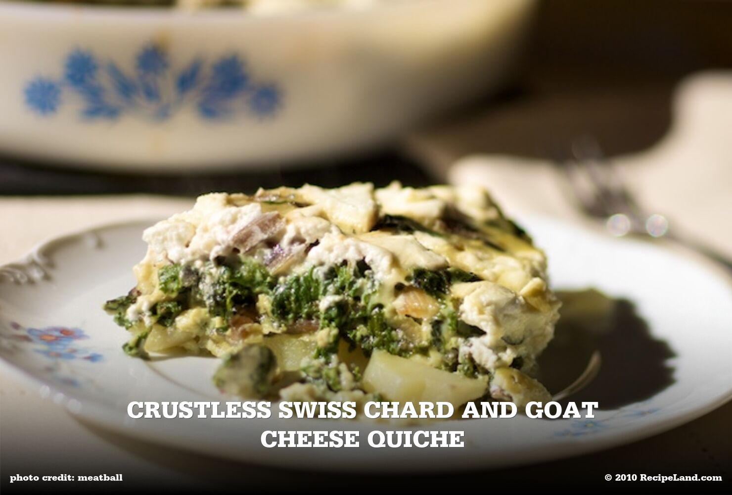 Crustless Swiss Chard and Goat Cheese Quiche