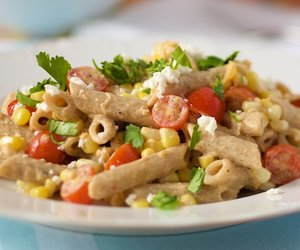 Corn and Tomato Smoky Penne Pasta