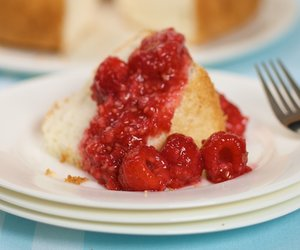 Angel Food Cake & Raspberries