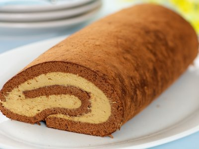 Chocolate Coffee Cream Roll