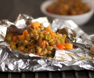 Sweet Potato, Lentil and Green Bean Packets