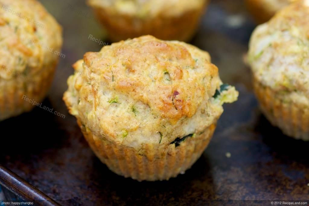 Carrot Zucchini Dill Cheddar Muffins Recipe