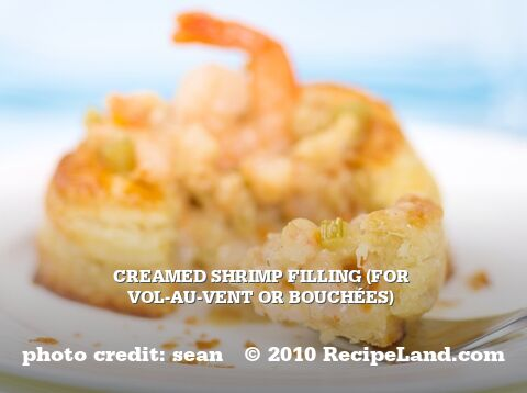 Creamed Shrimp Filling (for Vol-au-Vent or Bouchées)