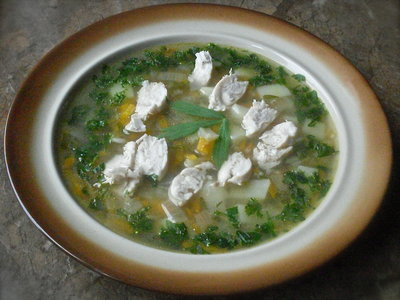 Lovage Soup with Barley