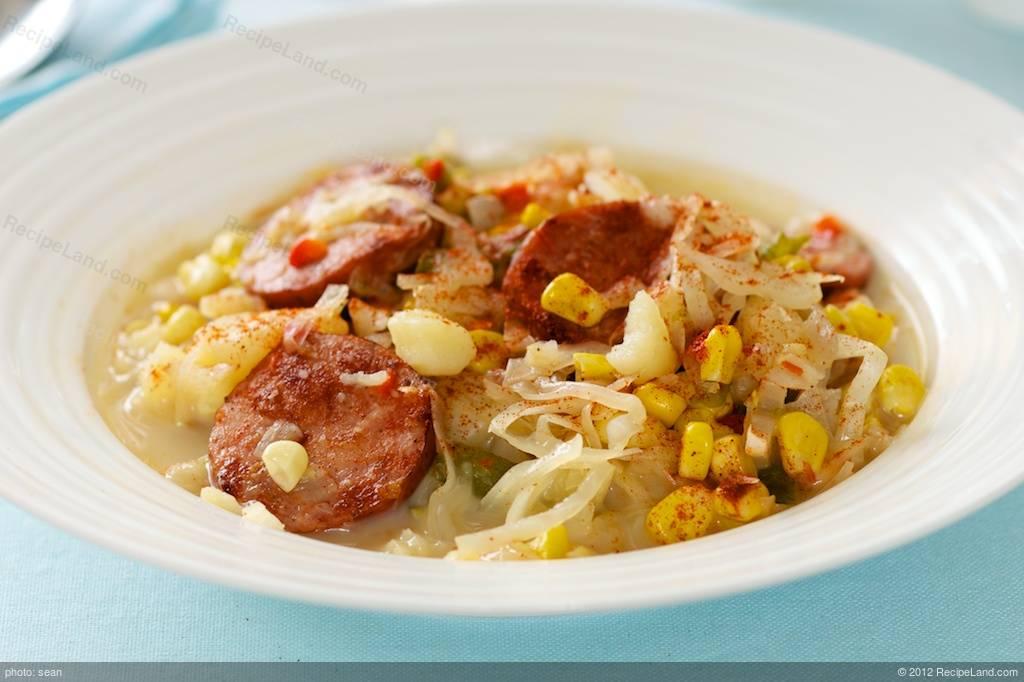 Easy corn and sausage chowder recipe