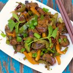 Eggplant and Bell Pepper Stir-Fry
