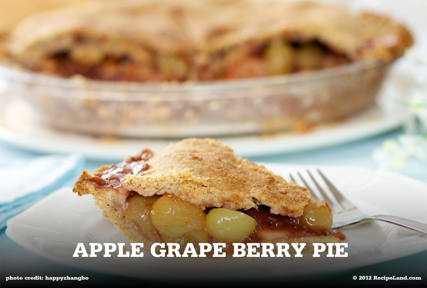 Apple Grape Berry Pie