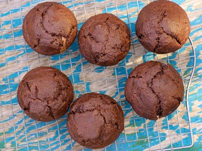 Double Chocolate Ricotta Muffins (Healthier Version)