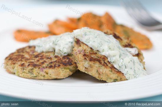 Tuna Cakes with Dill Tartar Sauce recipe