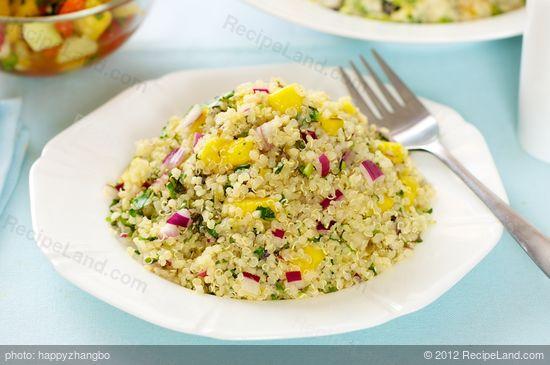 Mango, Jalapeno and Basil Quinoa Salad