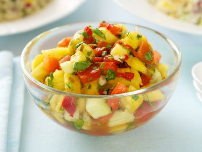 Pineapple, Mango and Cucumber Salsa