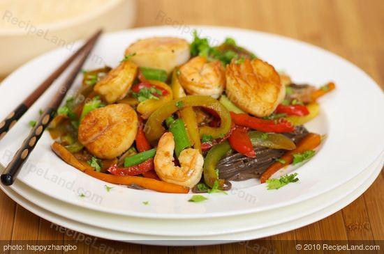 Shrimp And Sea Scallop Stir Fry Recipe