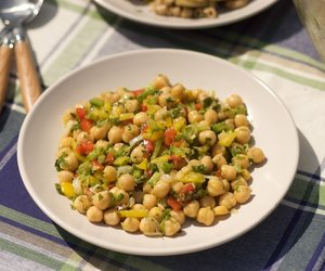 Cumin Spiced Chick-Pea Salad with Bell Pepper