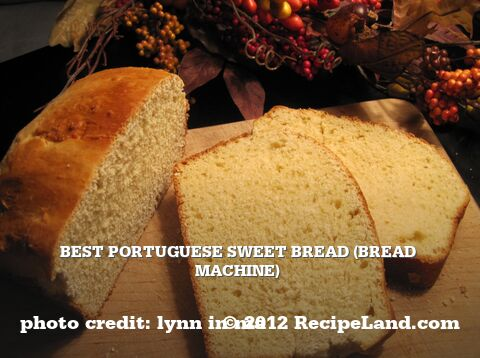 Portuguese Sweet Bread (Bread Machine)