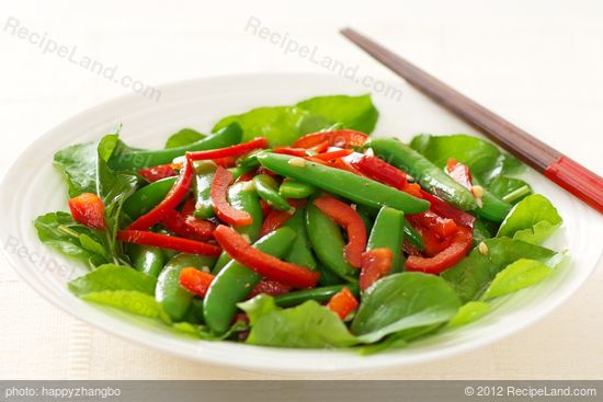 Sugar Snap Pea, Red Pepper and Arugula Salad with Soy-Sesame Dressing ...